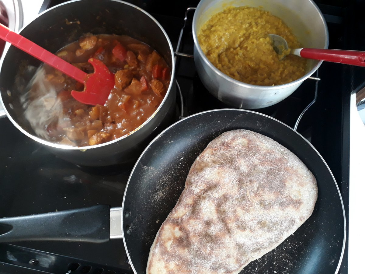 Fantastic currys with home made naans