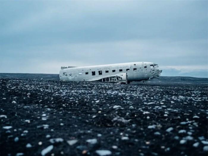 Solheimasandur Plane Wreck Iceland winter road trip