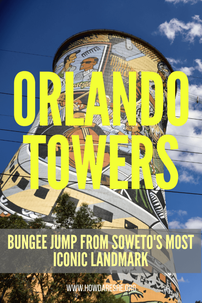 Bungee jumping Orlando Towers, Soweto | How Dare She