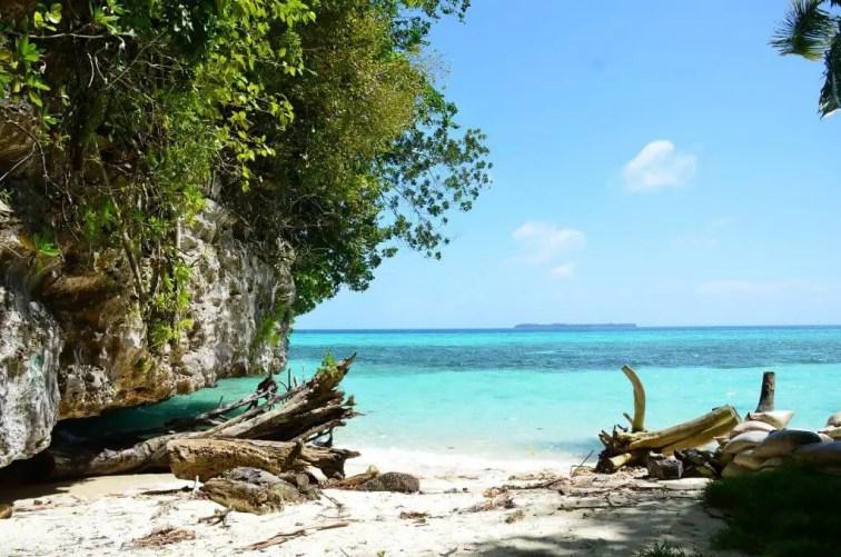 Palau beach and blue waters