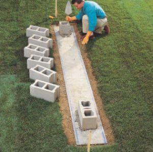 How to Lay Concrete Block3