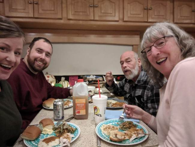 Holiday season commences with thanskgiving in the rv