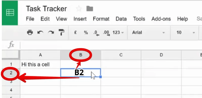 Cell Address in Google Sheet