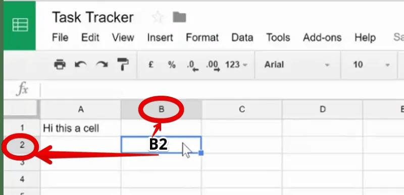 Cell Address in Google Sheet