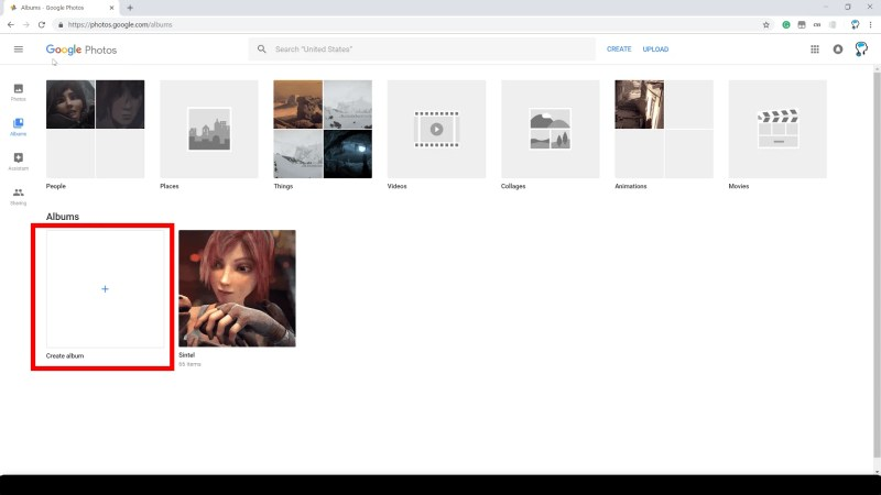 Create Google Photo Album