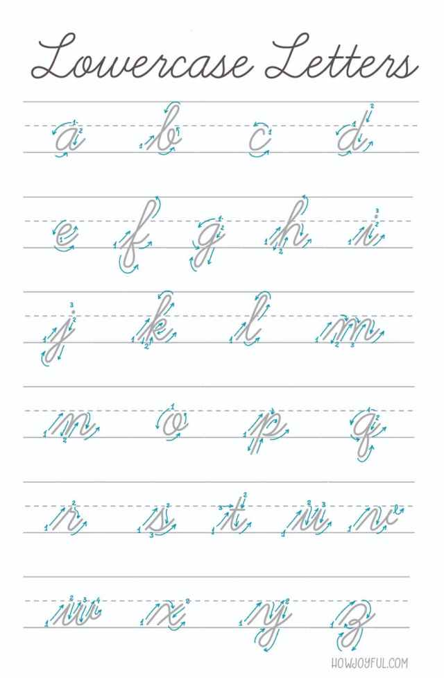 Lettering Cursive: Intro to American Cursive & Script alphabets