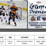 TOSTI: GAME 6: SWAMP RABBITS ENTER MUST-WIN CONTEST IN NORTH CHARLESTON