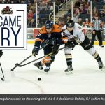 TOSTI: (SAT) SWAMP RABBITS SLIP IN SEASON FINALE AGAINST GLADIATORS