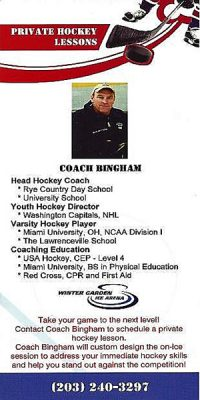PRIVATE HOCKEY LESSONS WITH COACH BINGHAM