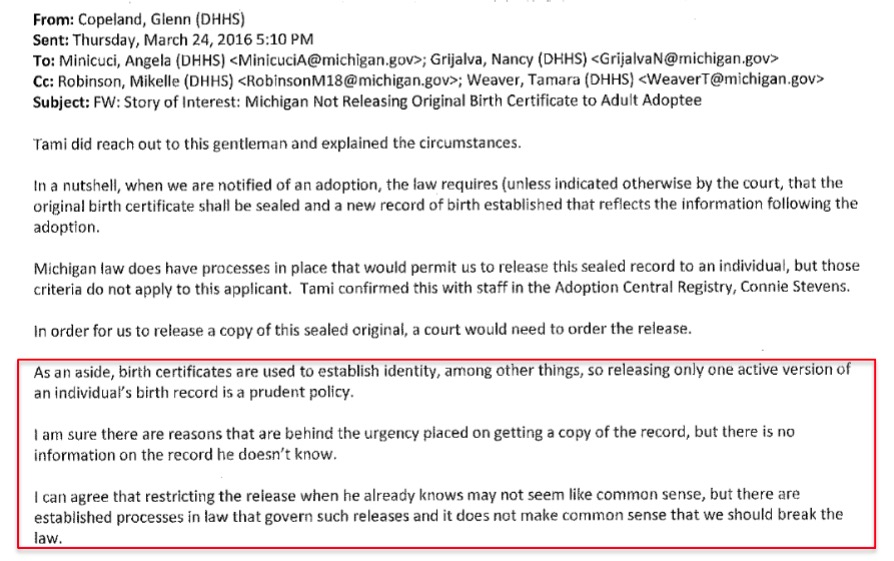 Faqs For Court Order Requests In Michigan For Original Birth
