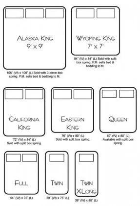 Alaskan King Bed Size Chart