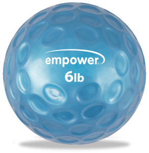 Empower 6lb Fingertip Grip Medicine Ball oob