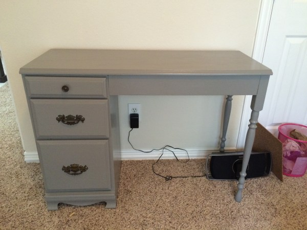 Old desk painted