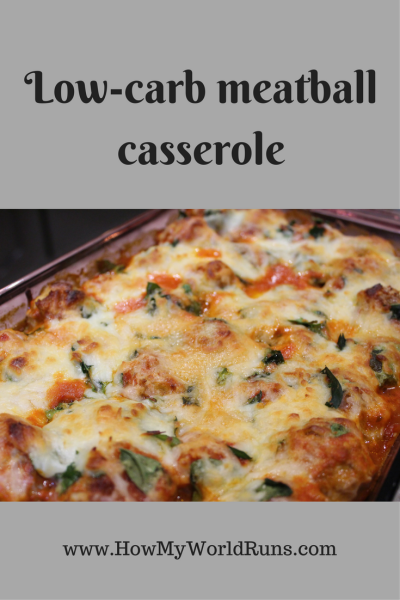 Low-carb meatball casserole