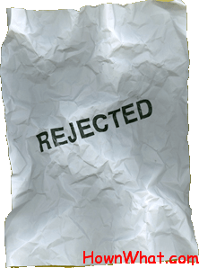 sample job refusal rejection letter
