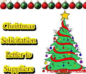 Sample christmas solicitation letter to suppliers spiritdancerdesigns