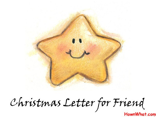 Sample Christmas Letter for Friend Template