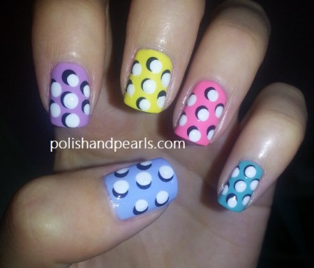 3D Polka Dot Nails