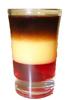 Pousse cafe glass