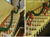 wreath for staircase christmas decorations