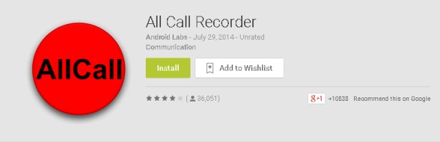 All Call Recorder for Android Mobile Phones