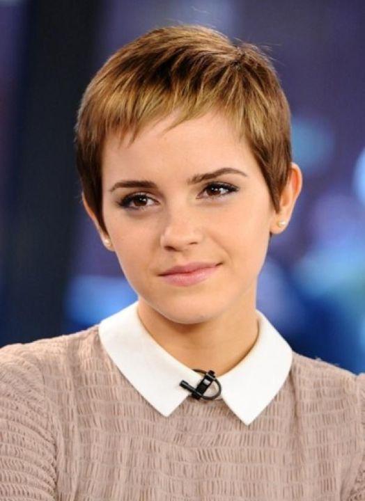 Emma Watson in Pixie Haircut