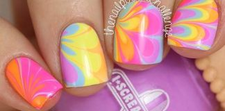 Water marble patterns Nail Art