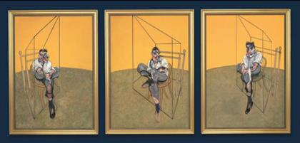 3 studies of Lucian freud Painting