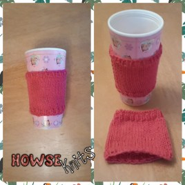 Knitted Takeaway Cup Cozies