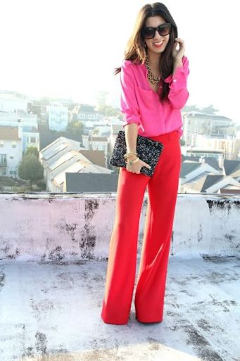 Outfit Inspiration - Bright Red Trousers - The Face Of Style