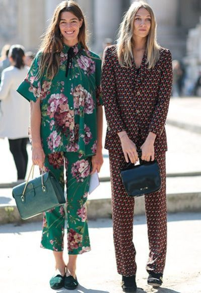 Outfit Inspiration - Printed Co Ord Street Style - The Face Of Style
