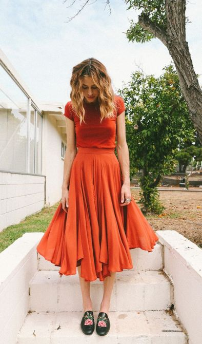 Outfit Inspiration - Orange Co Ord - The Face Of Style