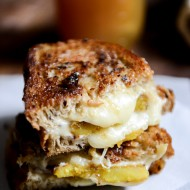 Caramelized Butternut Squash, Roasted Garlic + Coconut Butter Grilled Cheese I howsweeteats.com-5