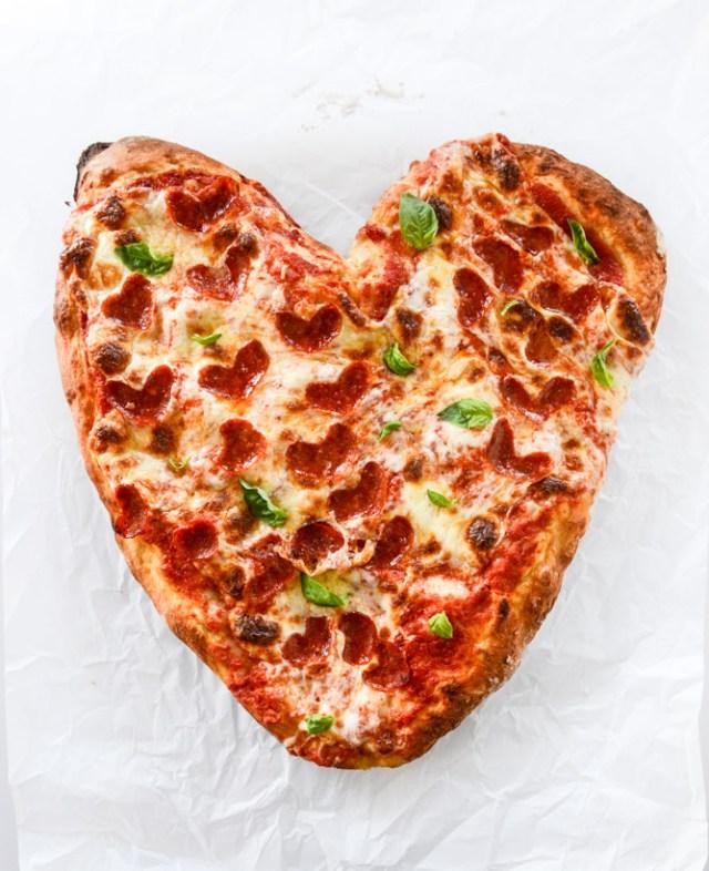 Heart Shaped Pizza Valentine's Day Recipes