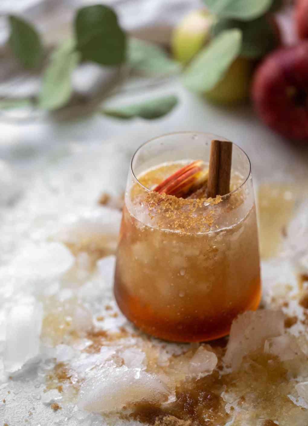 brown sugar bourbon smash