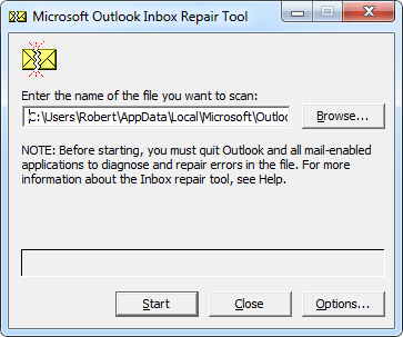 Inbox Repair Tool - scanpst.exe