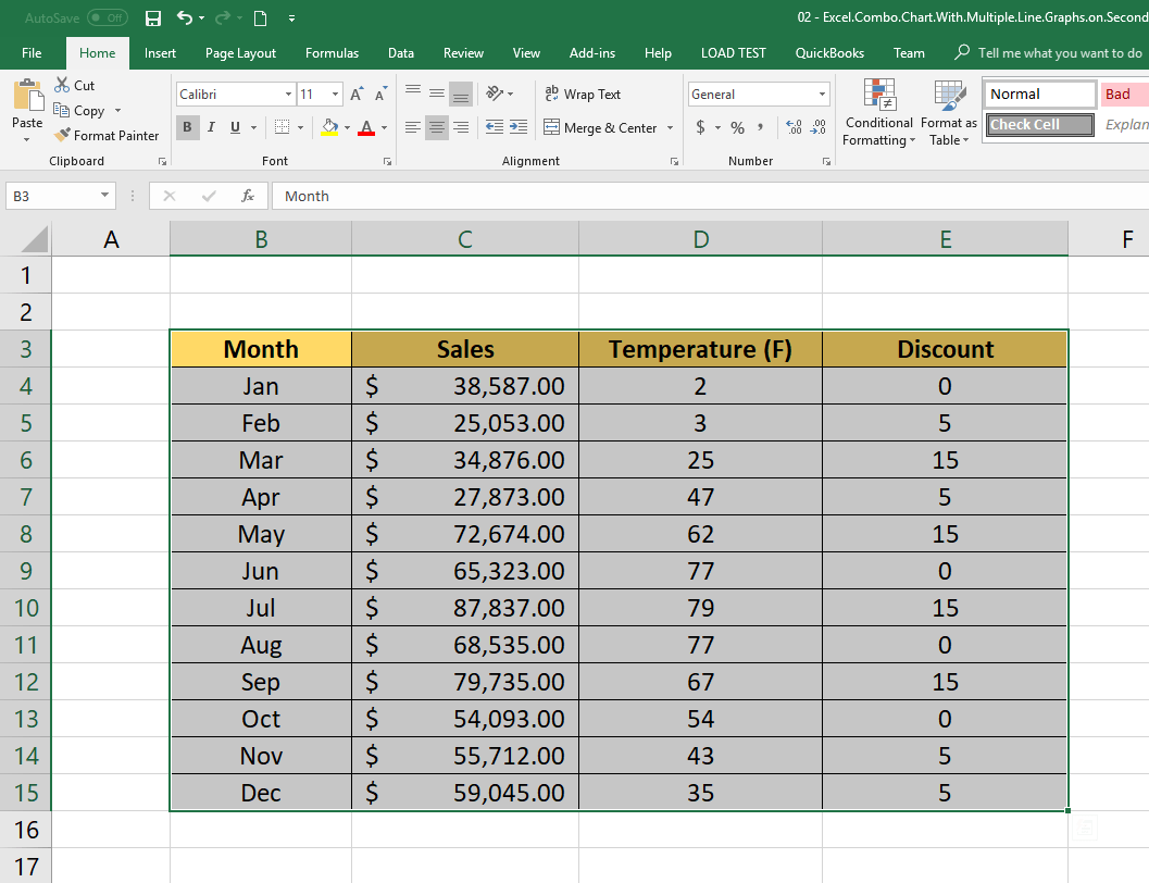 How To Create Excel Chart With Secondary Axis