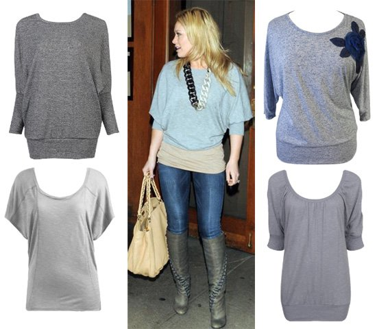 Hilary Duff's Gray Top for Less than $30 - 4 Options for You 3