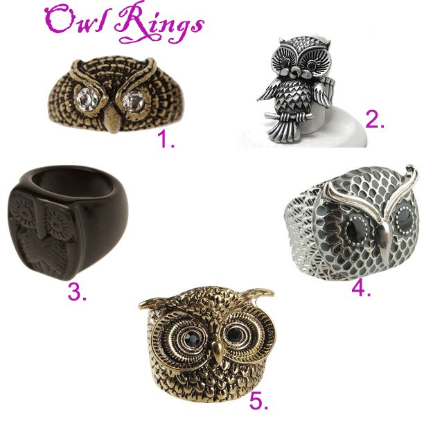 Shopping Time: Owl Rings Under $15!