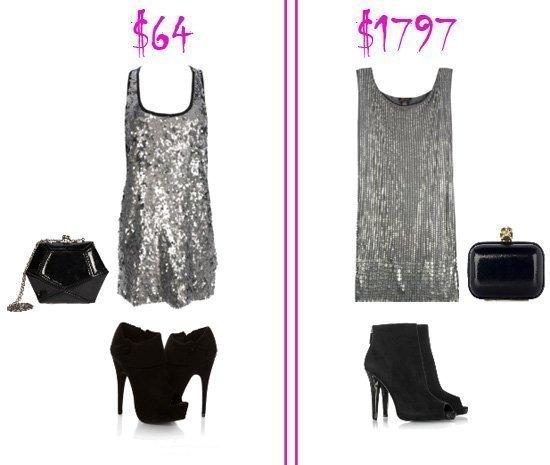 Silver Dress Outfit – Low Budget VS Mega Budget 1