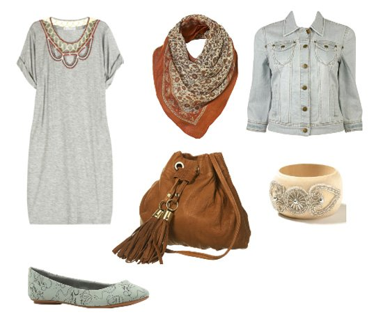 Daily Look – Casual Mix of Gray and Brown