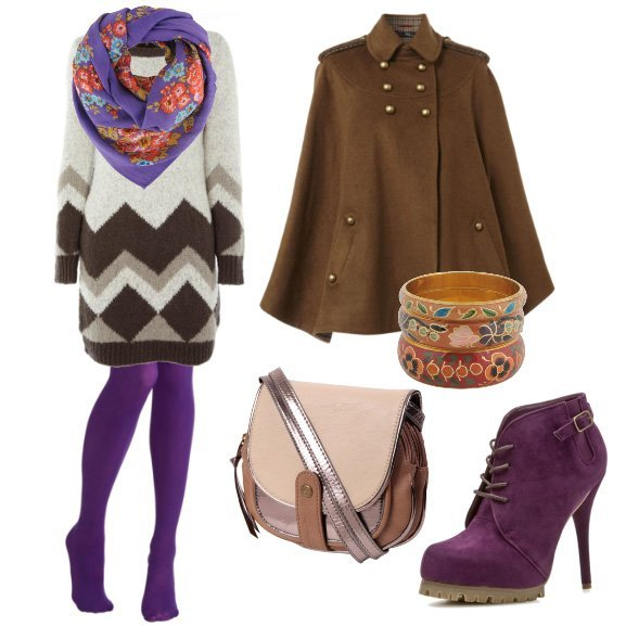 Daily Outfit: Cozy Purple Winter – 7 Piece Outfit for $180