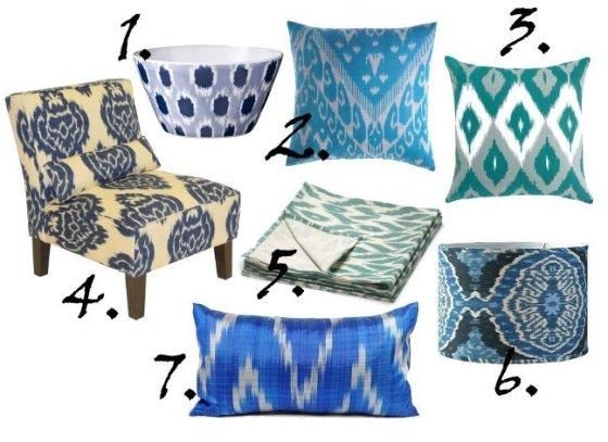 Decor Trends: Blue Ikat 12