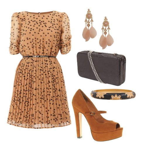 Daily Chic: Spotted Caramel Outfit for $100