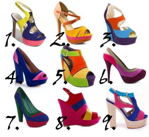 Trend Alert: Color-Block Rainbow Shoes Under $50  5