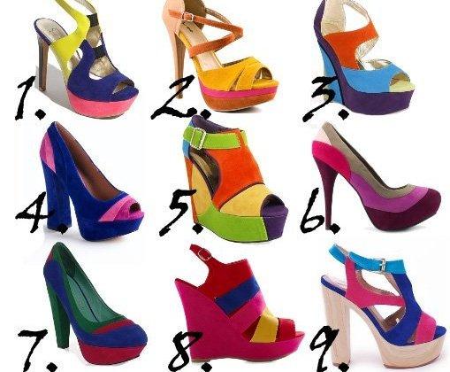 Trend Alert: Color-Block Rainbow Shoes Under $50  2