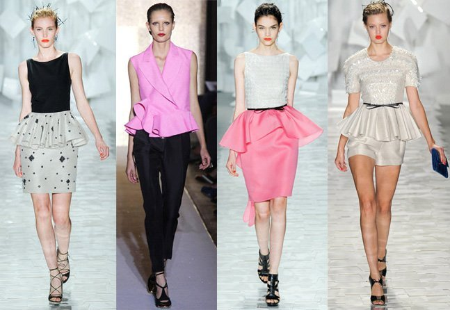 Spring 2012 Runway Trends: Peplum Tops, Skirts and Dresses