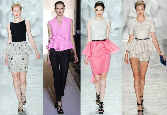 Spring 2012 Runway Trends: Peplum Tops, Skirts and Dresses 1