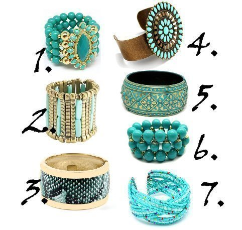 Shopping Time: Turquoise Bangles Under $20 1
