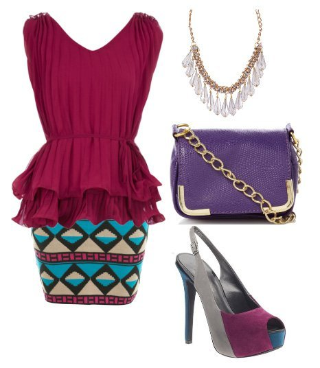 Themed Outfit Under $100: Tribal Berry  1